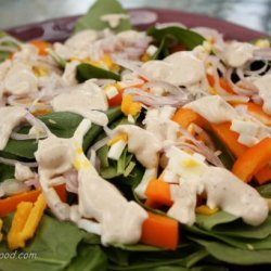 Baby Spinach Salad With Creamy Dijon Dressing