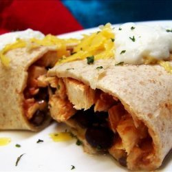 Chicken Burritos With Cheese and Black Bean Salsa