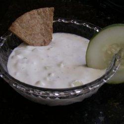 Cucumber Yogurt Dip With Greek  Pita Chips recipe