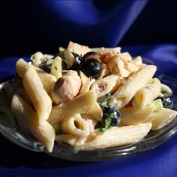 Chicken and Pasta Salad With Blueberries