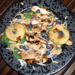 Chicken Shwarma Salad! W/Maple Syrup, Old Cheddar and Blueberrie recipe