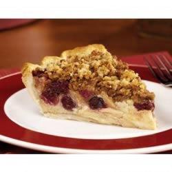 Apple Cranberry Streusel Custard Pie