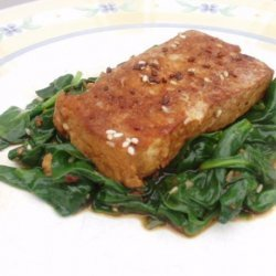 Sesame Tofu With Spinach