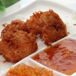 Coconut Fried Shrimp With Dipping Sauce - Bobby Deen