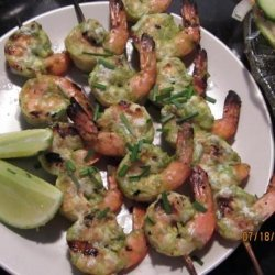 Grilled Shrimp With Lime-Cilantro Marinade recipe