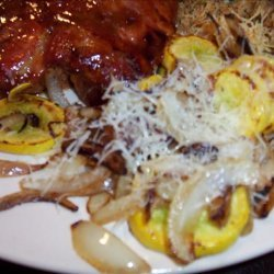 Yellow Squash With Onions and Parmesan
