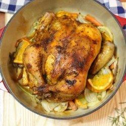 Dutch Oven Orange Roasted Chicken