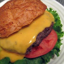Classic Beef Burgers With Cheese Sauce recipe