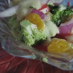 Broccoli With Sweet Onion Vinaigrette recipe
