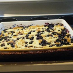 Blueberry Bread Pudding With Custard Sauce