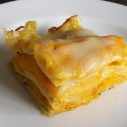 Lighter Butternut Squash Lasagna