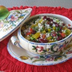 Israeli Couscous Pepper Salad