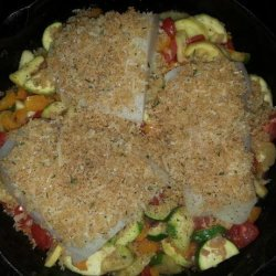 Baked Cod With Summer Squash