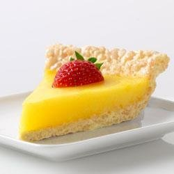 Marshmallow Crispy Lemon Pie