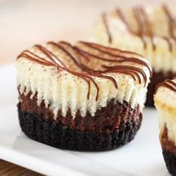 Mini Chocolate Hazelnut Cheesecakes recipe
