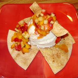 Tortilla Sundae With Minted Mango Salsa
