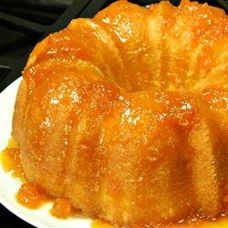 Apricot Brandy and Peach Schnapps Pound Cake