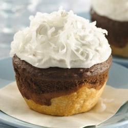 Chocolate-Coconut Jumbo Pie Cupcakes