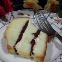 Cream Cheese and Nutella Filled Pound Cake