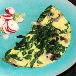 Nif's 1 Ww Pt. Light, Low Fat Mushroom Spinach Omelette (Omelet)