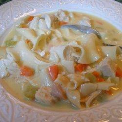 Favorite Creamy Chicken Noodle Soup