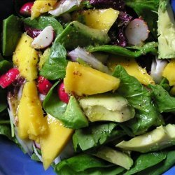 Spinach, Avocado & Mango Salad recipe