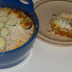 Layered Cheesy Tuna and Zucchini Casserole