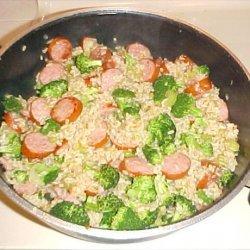 Broccoli and Sausage With Rice