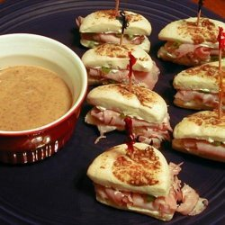 Ham-Filled Biscuits With Honey-Mustard Dipping Sauce