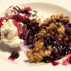 Blueberry Crumble Dessert
