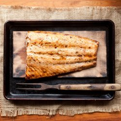 Salmon With Mustard-Maple Glaze