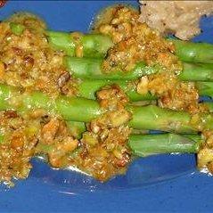 Pistachio Buttered Asparagus
