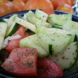 Refreshing Cucumber and Tomato Salad