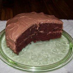Dark Chocolate Almond Cake with Chocolate Almond Cream Cheese Fr