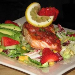 Salmon Steak With Strawberry Sauce