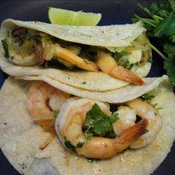 Garlicky Shrimp-Cilantro Tacos (Tacos De Camarones Al Mojo De Aj