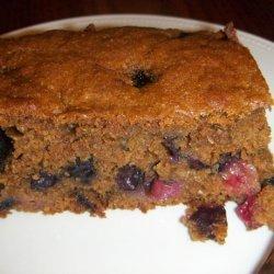 Spicy Molasses Blueberry Cake
