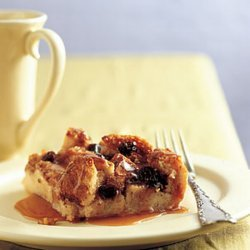 Irish Bread Pudding With Caramel-Whiskey Sauce