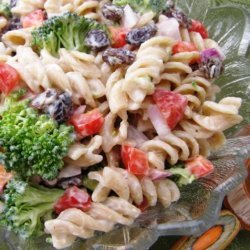 Broccoli, Raisin, Pasta Salad