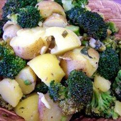 Hot Potato and Broccoli Salad