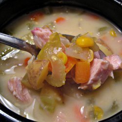 Smoked Turkey And Corn Chowder recipe