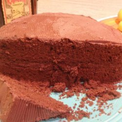 Sour Cream Fudge Layer Cake With Chocolate Rum Frosting