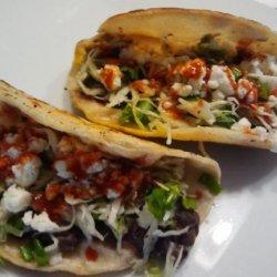 Crispy Black Bean Tacos With Feta & Cabbage Slaw recipe