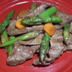 Beef With Fresh Asparagus