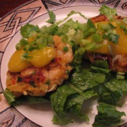 Coconut Curry Shrimp Cakes W / Papaya Lime Sauce