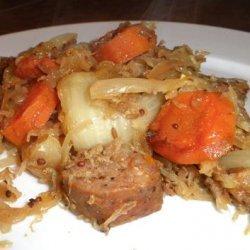 Crock Pot Sausage and Sauerkraut Dinner