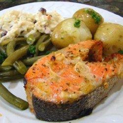 Grilled Limoncello Salmon Steaks