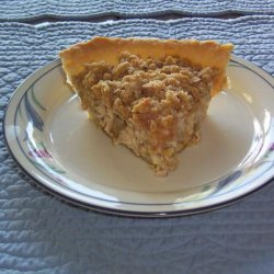 Low-Fat Sour Cream Rhubarb Pie