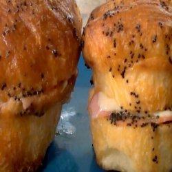 Ham and Swiss in a Bun