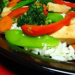 Stir-Fried Chicken With Gingered Vegetables